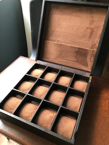 12 Watch Box - Espresso Leather