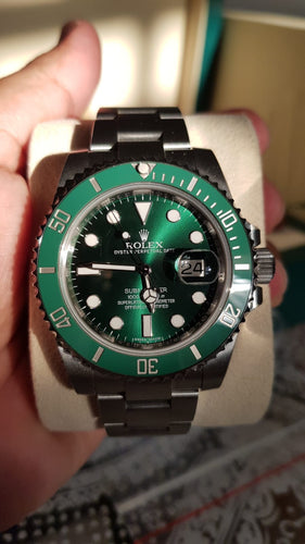 Rolex Green Submariner 116610LV - Partially Stickered - Full Set