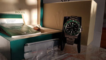 Load image into Gallery viewer, Rolex Green Submariner 116610LV - Partially Stickered - Full Set