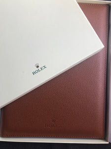 Rolex Leather Pad with Notepad & Pen
