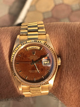 Load image into Gallery viewer, 1980 Rolex 18038 Day-Date - Mahogany Wood dial - Full Set
