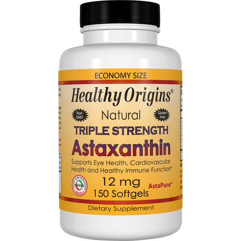 Astaxanthin (Complex), Triple Strength, 12mg 150Softgels