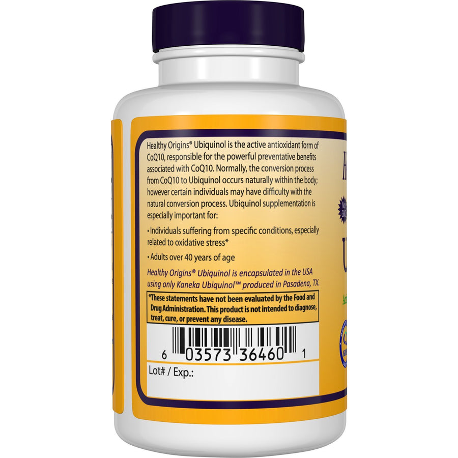 Ubiquinol, 50mg (Active form of CoQ10)
