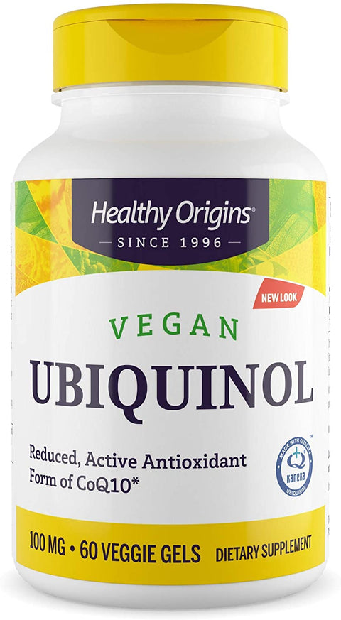 Ubiquinol Vegan Formula (Active form of CoQ10), 100mg 60VGels