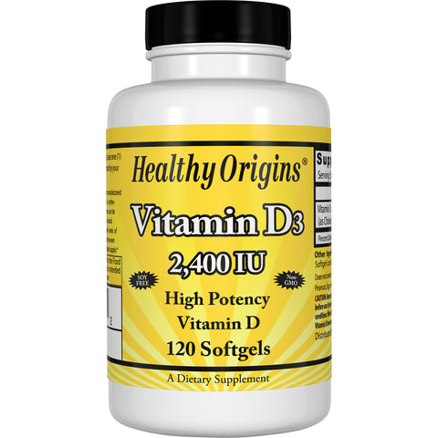 Vitamin Dз (Lanolin), 2,400 IU 120Softgels