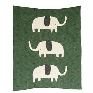 Green elephant blanket