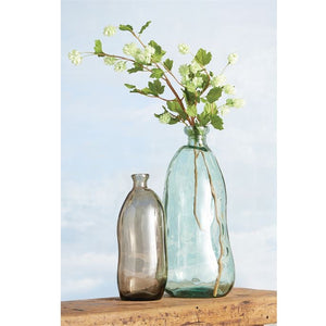 Set of recycled glass Spanish vases