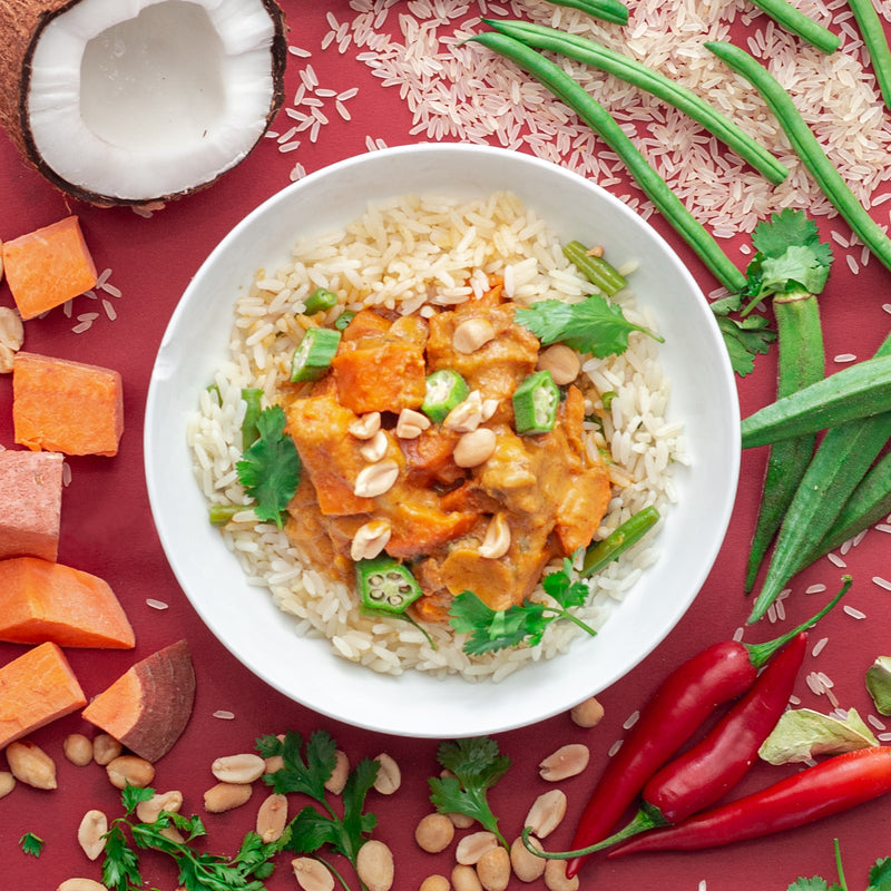Red Thai Sweet Potato Curry