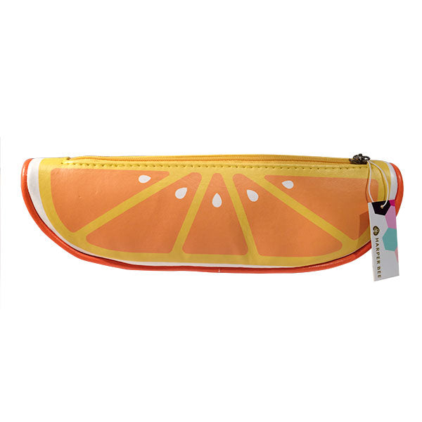 Harper Bee Pencil Case - Mandarin