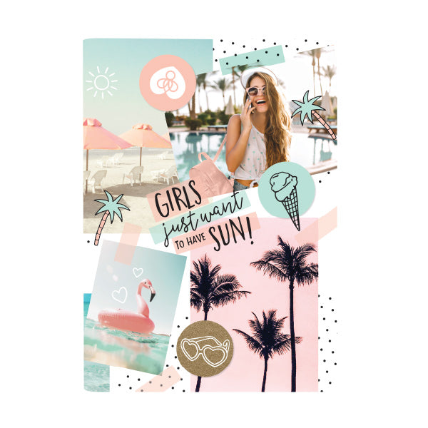 Harper Bee Scrap Book Cover - Tropical Holiday