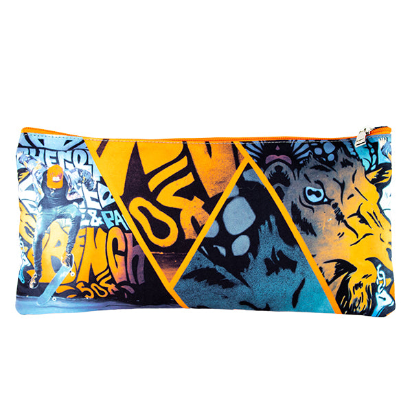 2 Zip Pencil Cases - Graffiti Skate