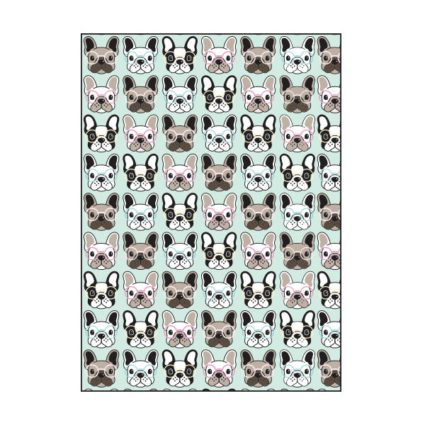 Exercise Book Cover - FRENCH BULLDOG
