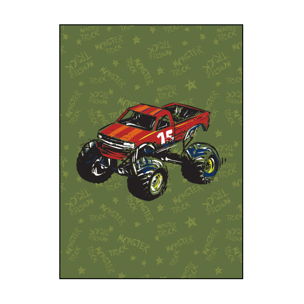 Exercise Book Cover - Monster Truck
