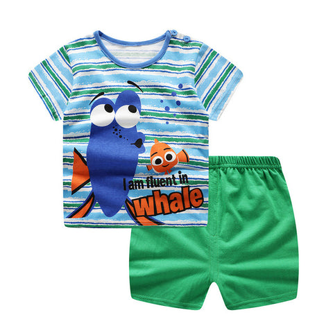 Nemo Print T-Shirt & Shorts : 0-2 years