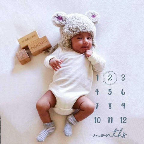 Beige Polar bear crochet beanie - Made to order