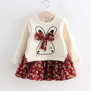 Long-sleeve Bunny Dress : 1-6 years