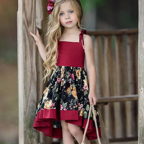 Princess Dress Floral Print : 1-6 years