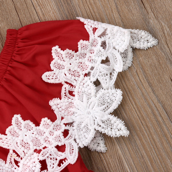 Laced Romper : 0-2 years
