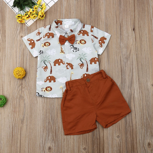 Animal print Shirt & Shorts : 1-6 years