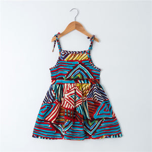 Abstract Print Dress: 1-6 years