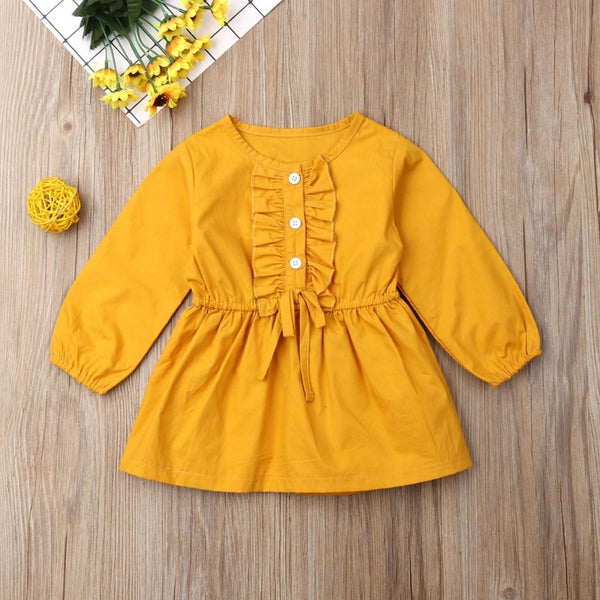 Long Sleeved Coat-Style Dress : 0-4 years