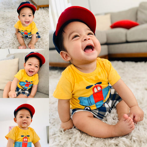Airplane print T-Shirt & Shorts : 0-2 years