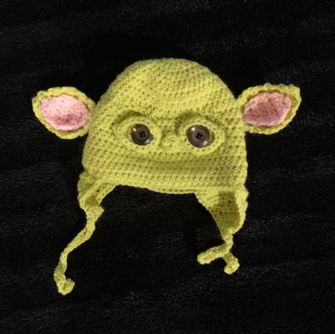 Baby Yoda crochet beanie - Made to order