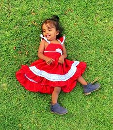 Red Party Gown : 1-6 years