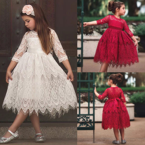 Lace Ball Gown : 3-8 years