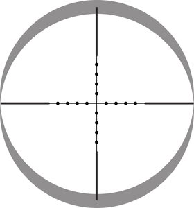 Lynx Reticle Change Mil dot (illuminated dot)