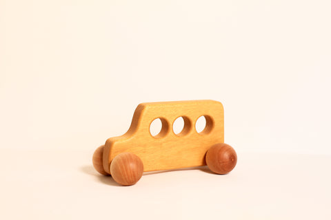 Yellow School Bus Rolling Toy
