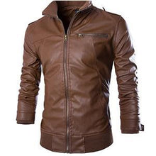 Load image into Gallery viewer, Locomotive style leather jacket for men