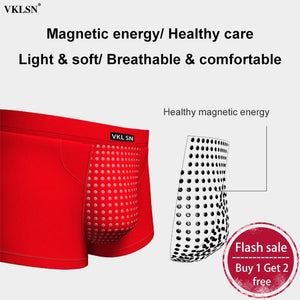 Men's Magnetic Therapy Boxer Briefs