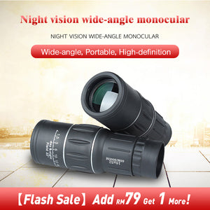 Night vision wide-angle monocular