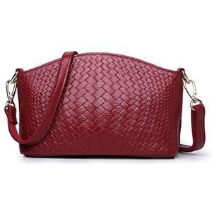 Women's Handwoven Leather Cross-body Bag