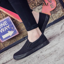 Load image into Gallery viewer, men's shoes all black casual solid color