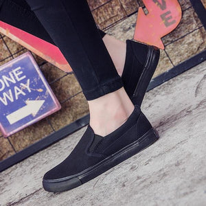men's shoes all black casual solid color