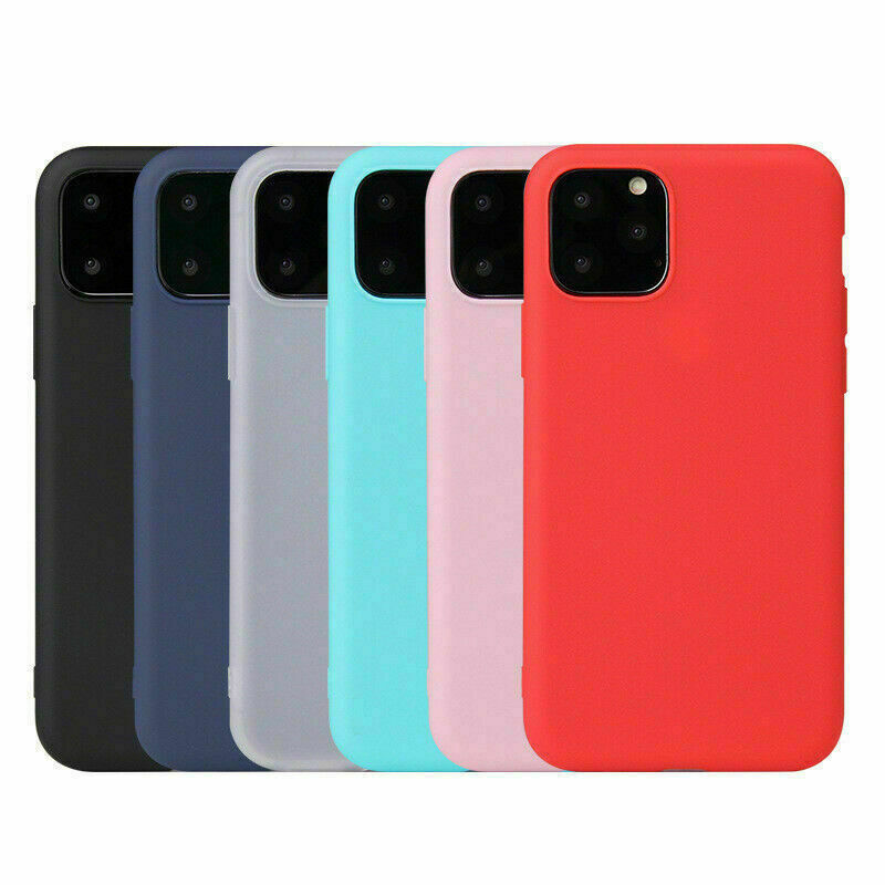 Case for iPhone 11 11 Pro Max Genuine Soft Silicone TPU Phone Protective Cover
