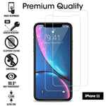 iPhone 11  2 Pack Tempered Glass