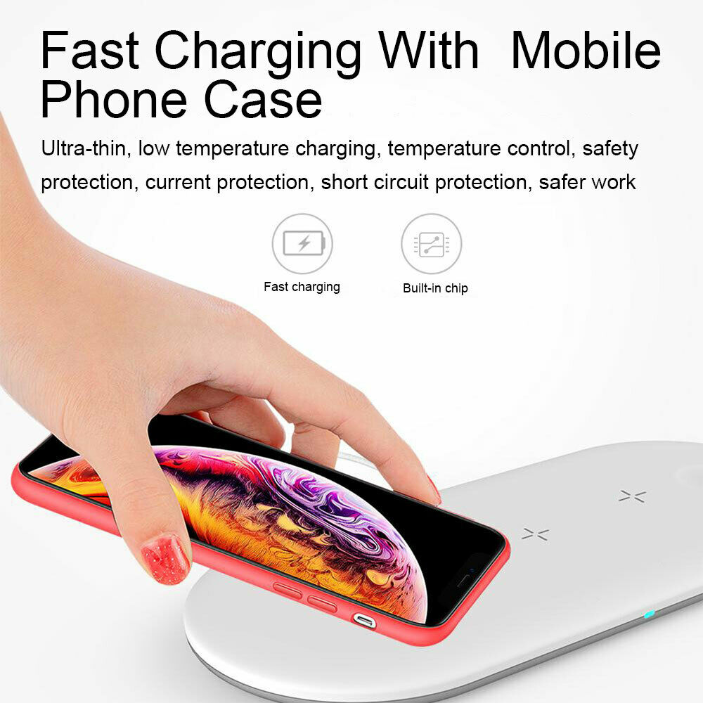 3in1 Qi Wireless Charger Dock