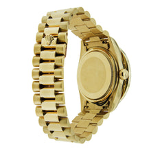 Load image into Gallery viewer, 18K Yellow Gold Rolex Day Date 36mm Champagne with Roman Numerals With 4CT Diamond Bezel