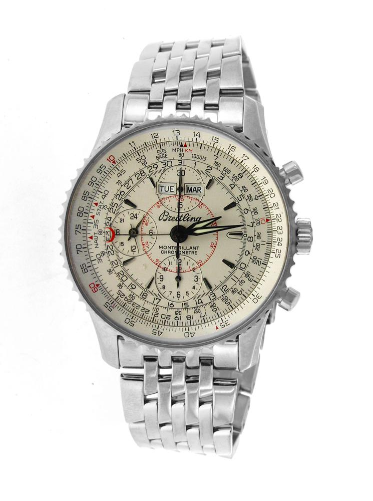 Stainless Steel Breitling Montbrillant