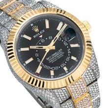 Load image into Gallery viewer, Two Tone Rolex Sky-Dweller 326933 42mm Black Dial with 21.5CT Diamonds