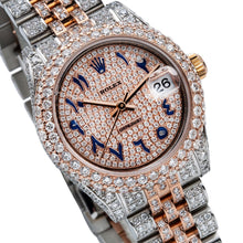 Load image into Gallery viewer, Rolex Datejust 178240 31mm Pink Champagne Dial with 8.75CT Diamonds