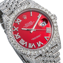 Load image into Gallery viewer, Rolex Datejust II 126300 41mm Red Dial With 11.75CT Diamonds