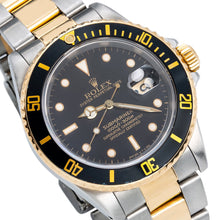 Load image into Gallery viewer, Two Tone Rolex Submariner 16613 40mm Black Dial