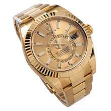 Load image into Gallery viewer, 18K Yellow Gold Rolex 326938 Sky-Dweller 42mm Champagne Dial