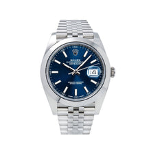 Load image into Gallery viewer, Rolex Datejust 126300 41MM Blue Dial With Stainless Steel Bracelet