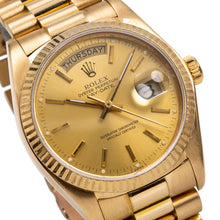 Load image into Gallery viewer, 18K Yellow Gold Rolex Day-Date 18038 36mm Champagne Dial