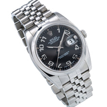 Load image into Gallery viewer, Stainless Steel Rolex DateJust 116200 36mm Black Dial